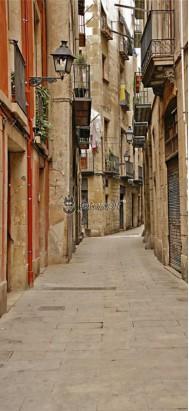 uliczka Barcelona kolor