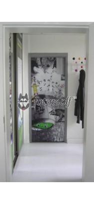 sposób na drzwi wyjściowe - fototapeta kolaş - zrealizowana na indywidualne zamówienie z kilkunastu zdjęć klienta